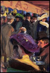 Akseli Gallen-Kallela, Café à Paris, 1909. Coll. particulière.