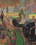 Eero Snellman: Jardin du Luxembourg, 1913. Ateneum, coll. Hallonblad. Photo: Yehia Eweis.